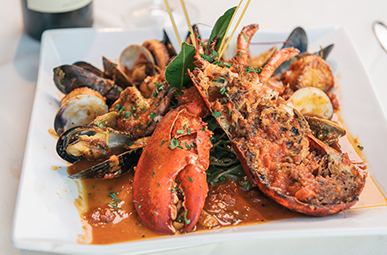 Picture of Lobster and seafood dish